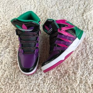 Adidas Original High Tops Retro Black & Purple 6.5